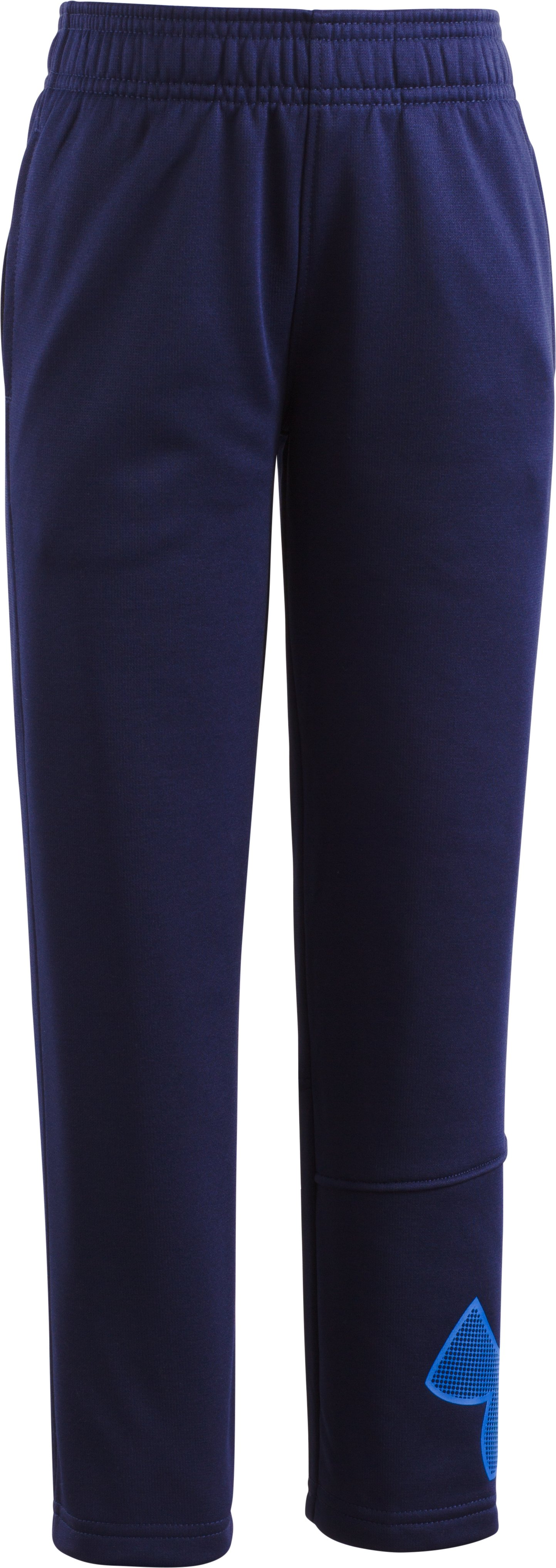 Boys' Pre-School Armour Fleece® Big Logo Pants, Midnight Navy, Laydown
