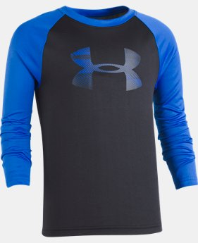 New Arrival Boys' Infant UA Speedlines Big Logo Raglan Long Sleeve  1 Color $20.99