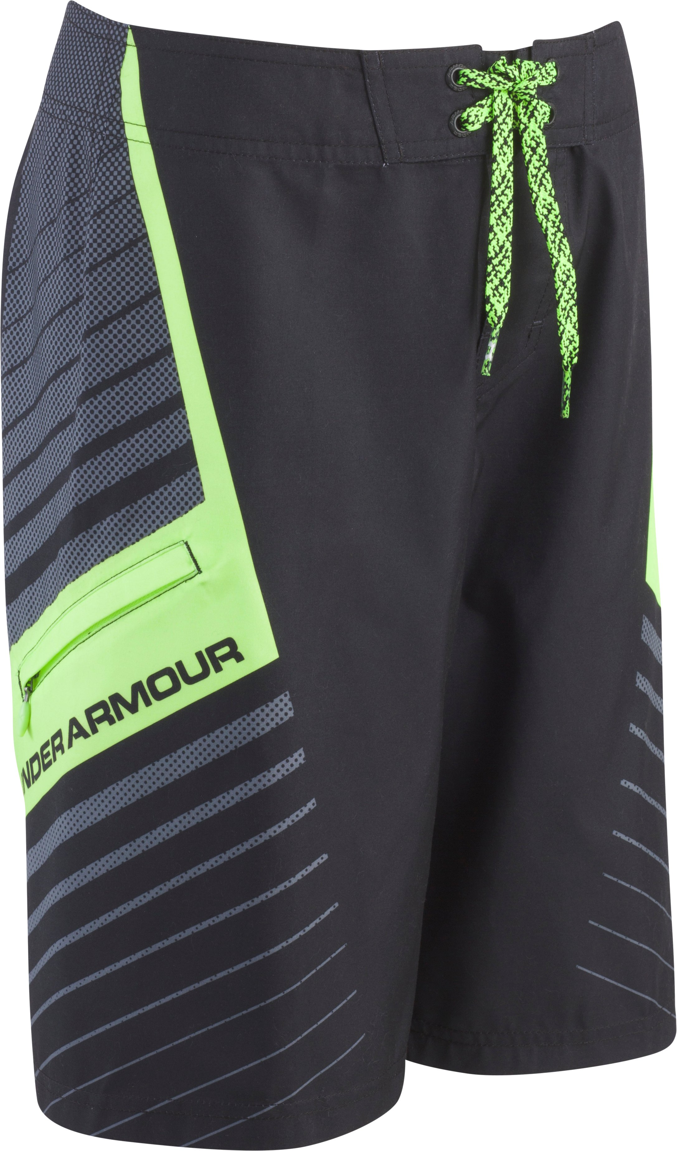 Boys' UA Ascending Boardshorts, Black , Laydown