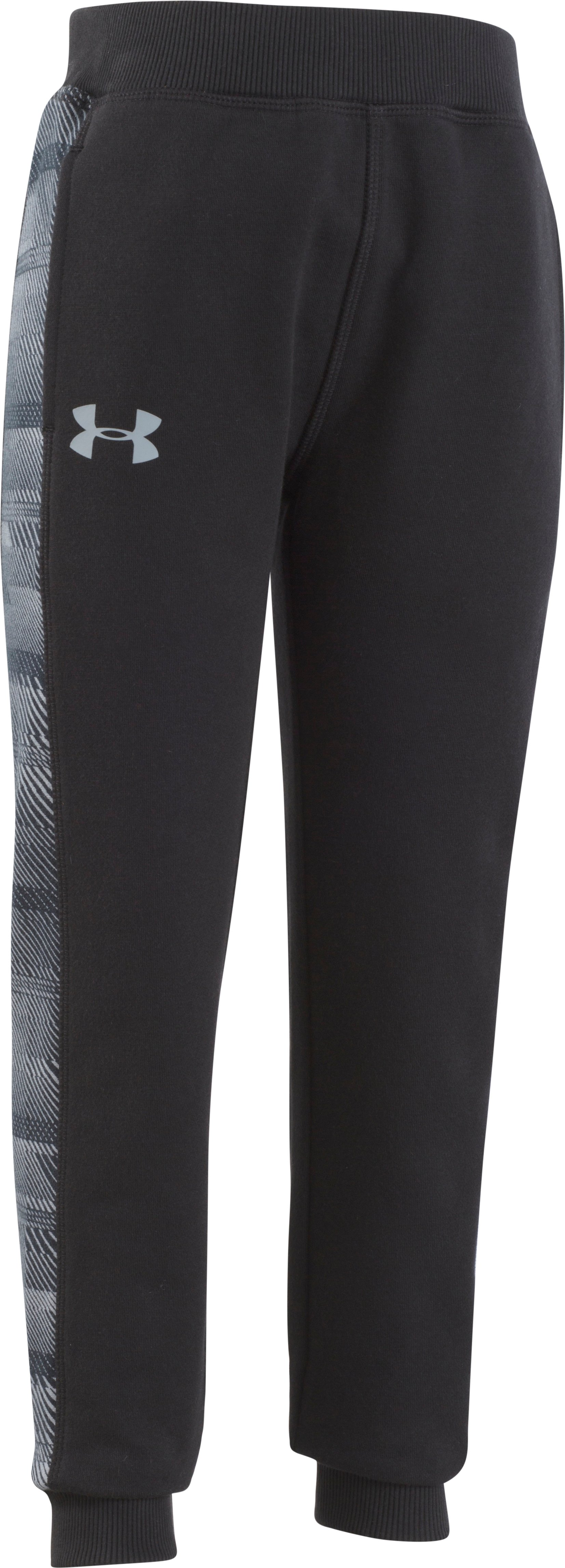 Boys' Pre-School UA Threadborne Pants, Black , Laydown