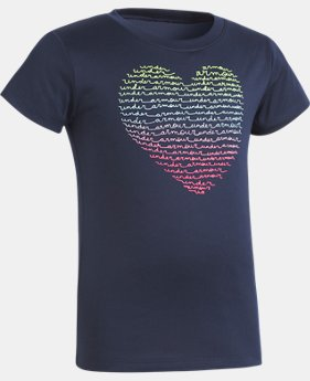 Girls' Pre-School UA Heart Short Sleeve T-Shirt  1 Color $13.99
