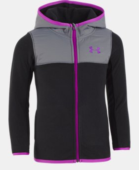 New to Outlet Girls' Toddler UA Hundo Full Zip Hoodie  1  Color Available $39.99