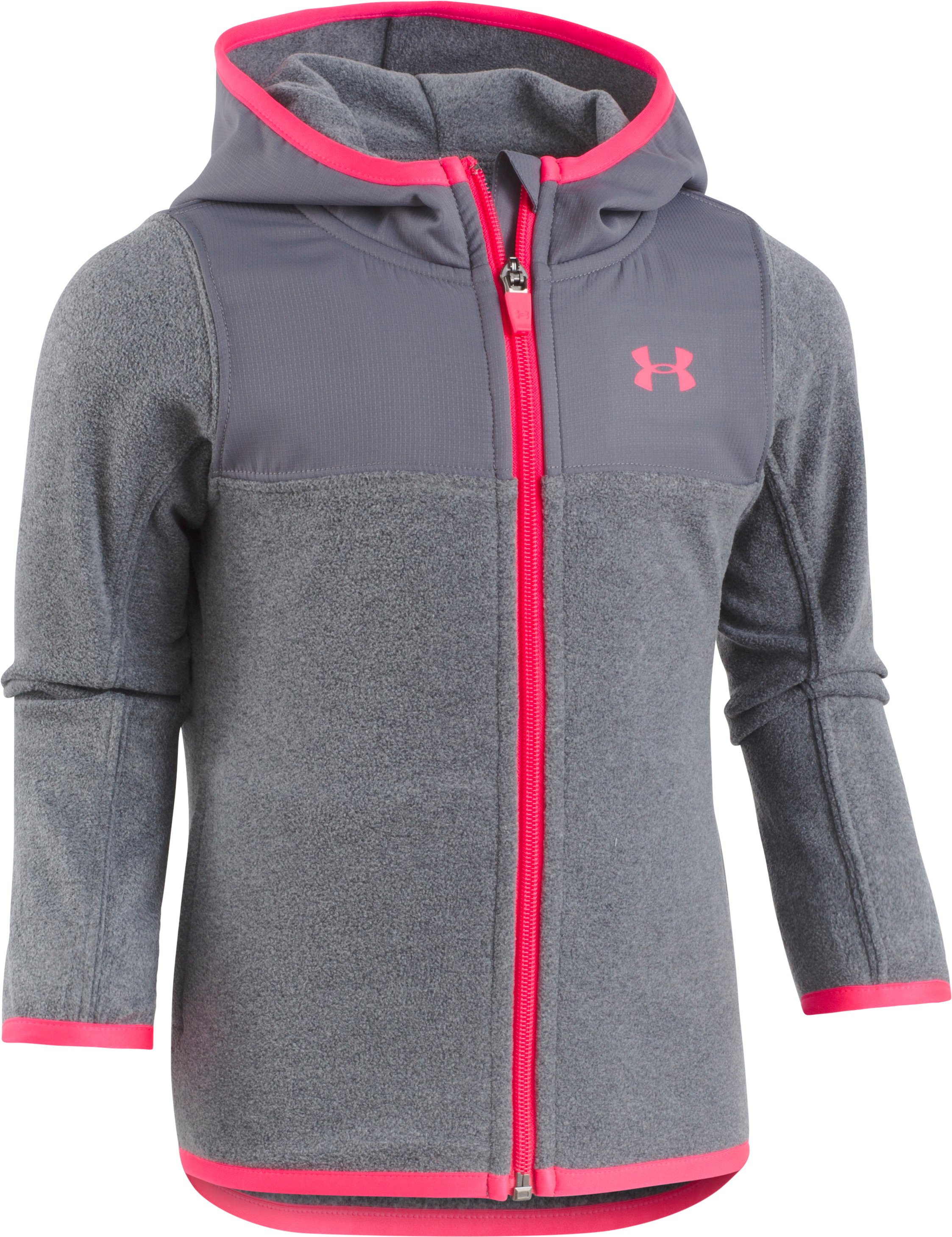 Girls' Toddler UA Hundo Full Zip Hoodie, Graphite