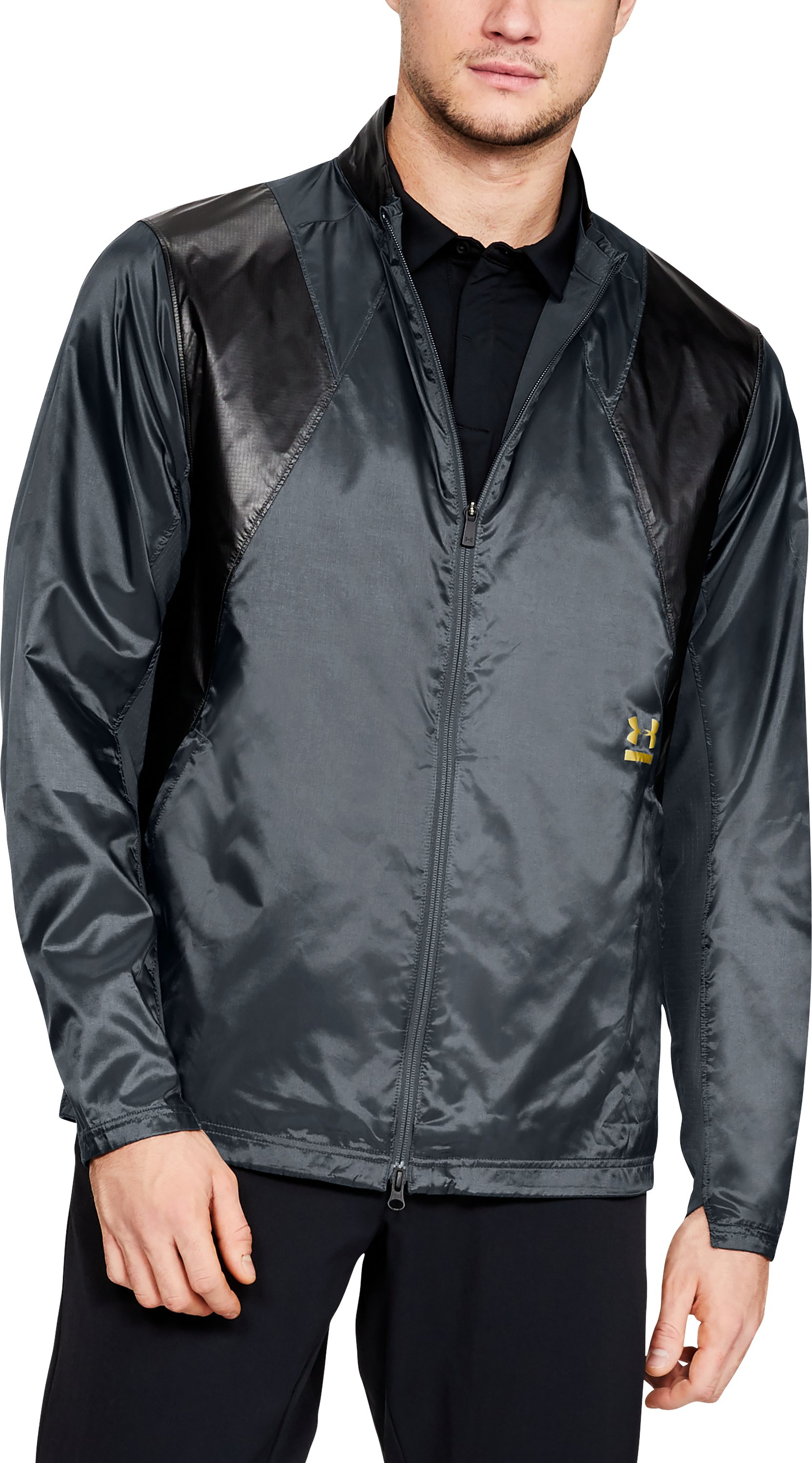 Men's UA Perpetual Jacket, STEALTH GRAY,