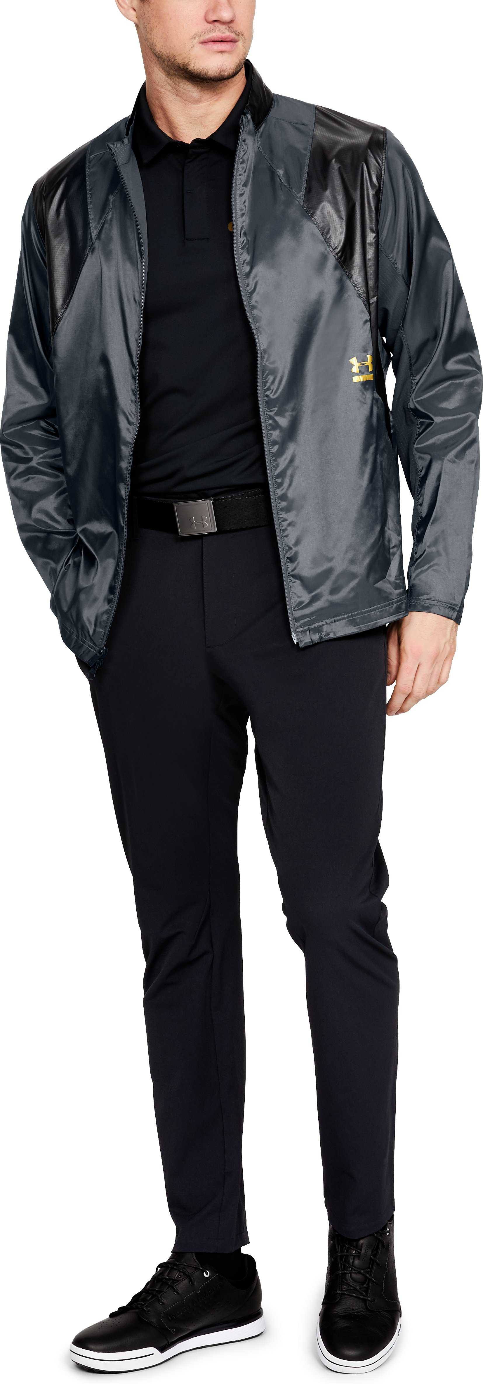 Men's UA Perpetual Jacket, STEALTH GRAY, undefined