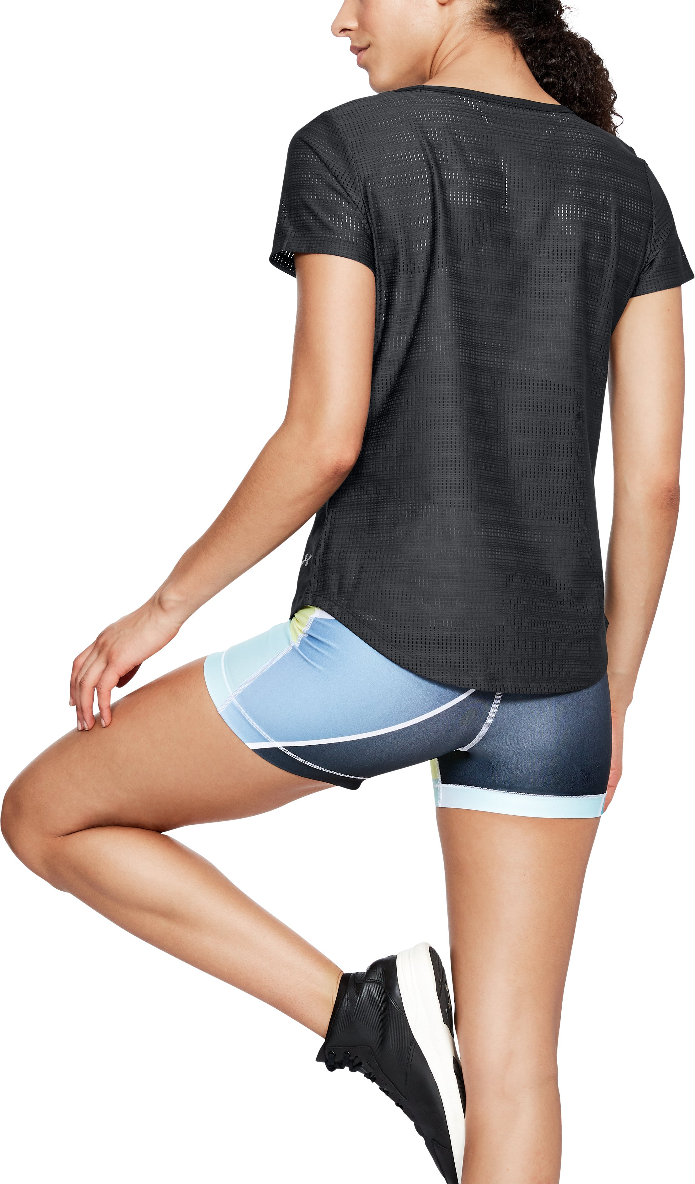 Women's UA Vanish Disrupt Mesh Short Sleeve, Black ,