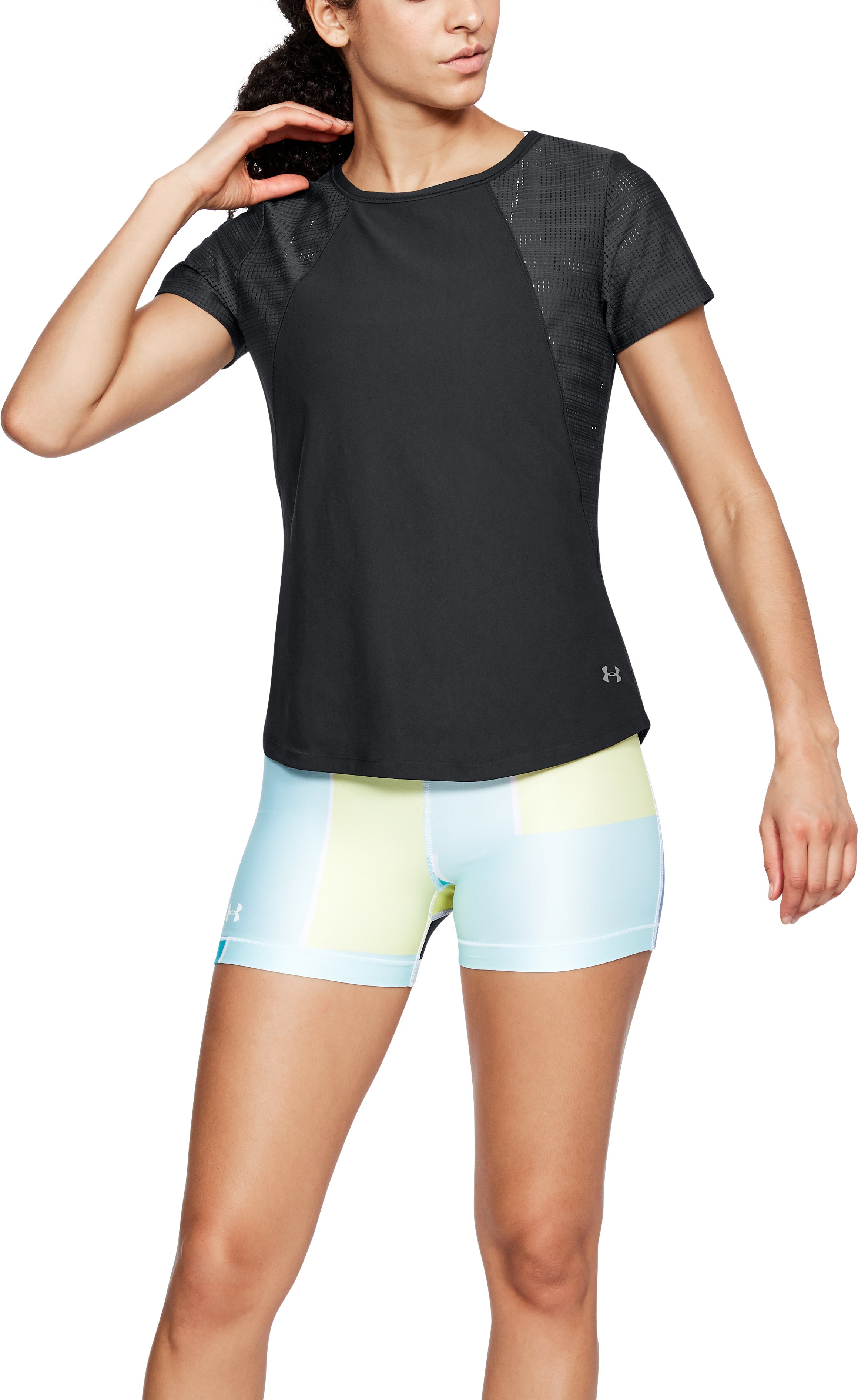Women's UA Vanish Disrupt Mesh Short Sleeve, Black