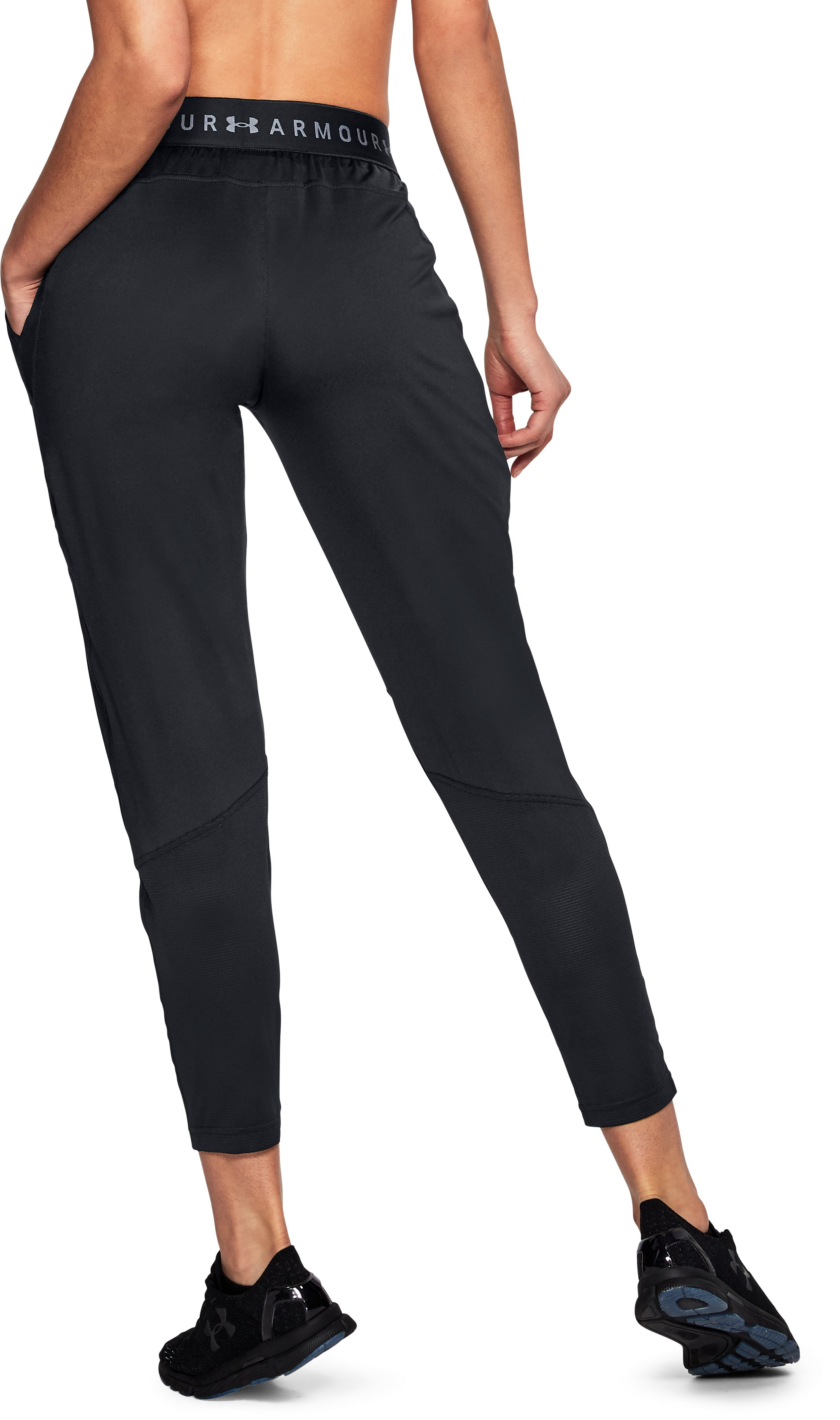 Women's UA Armour Sport Pants, Black , undefined