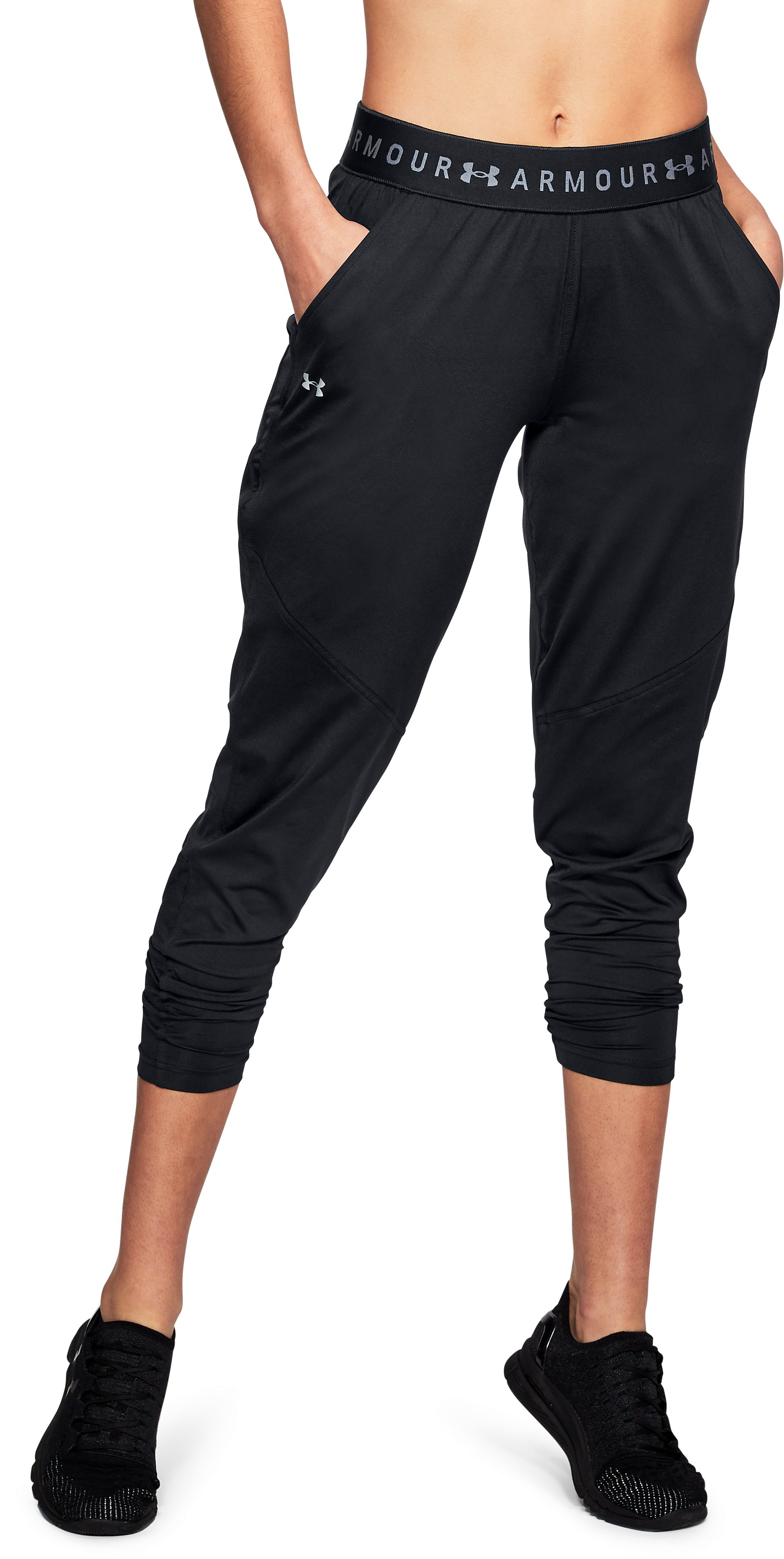 Women's UA Armour Sport Pants, Black ,