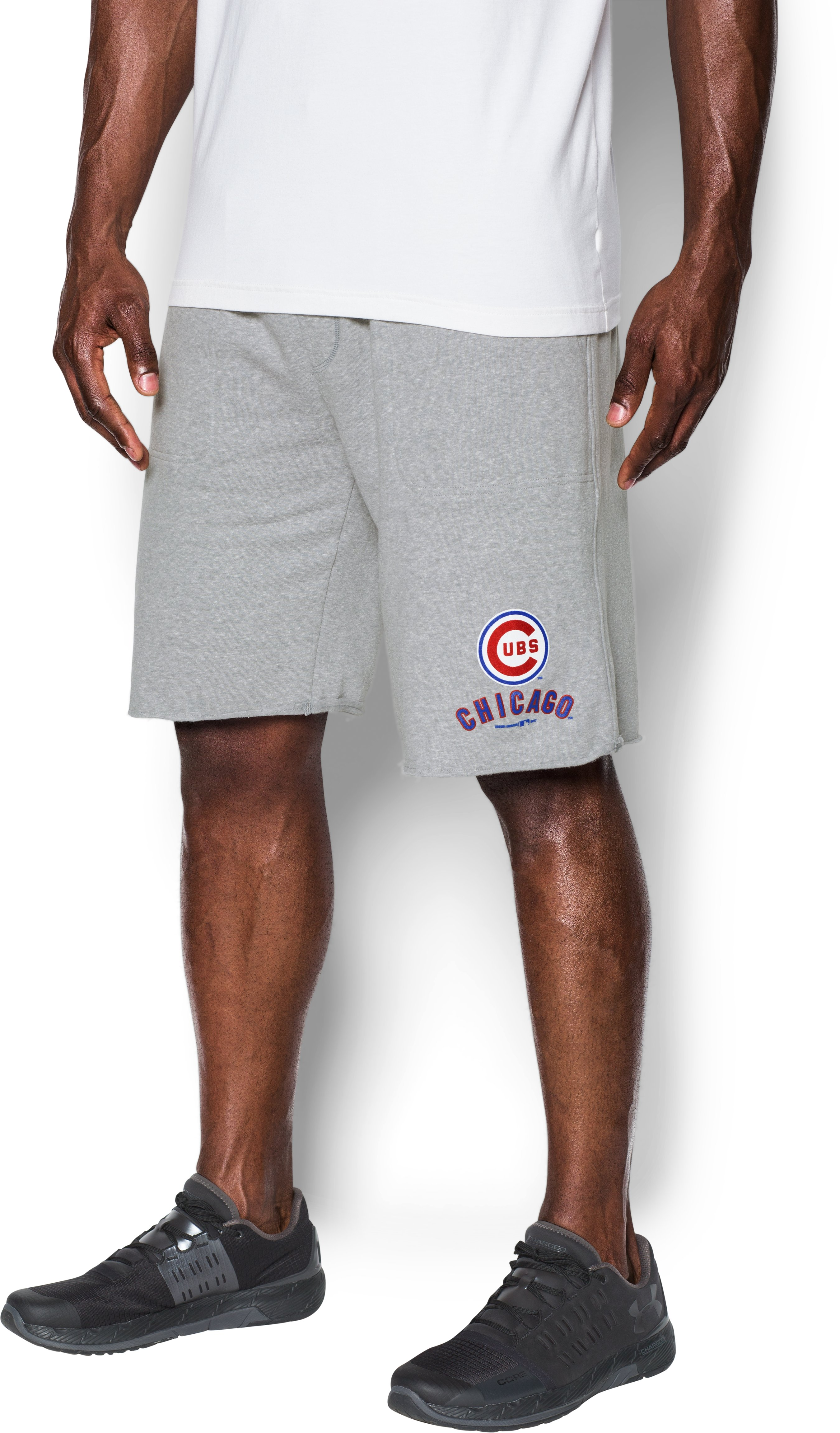 Men's Chicago Cubs Fleece Shorts, True Gray Heather