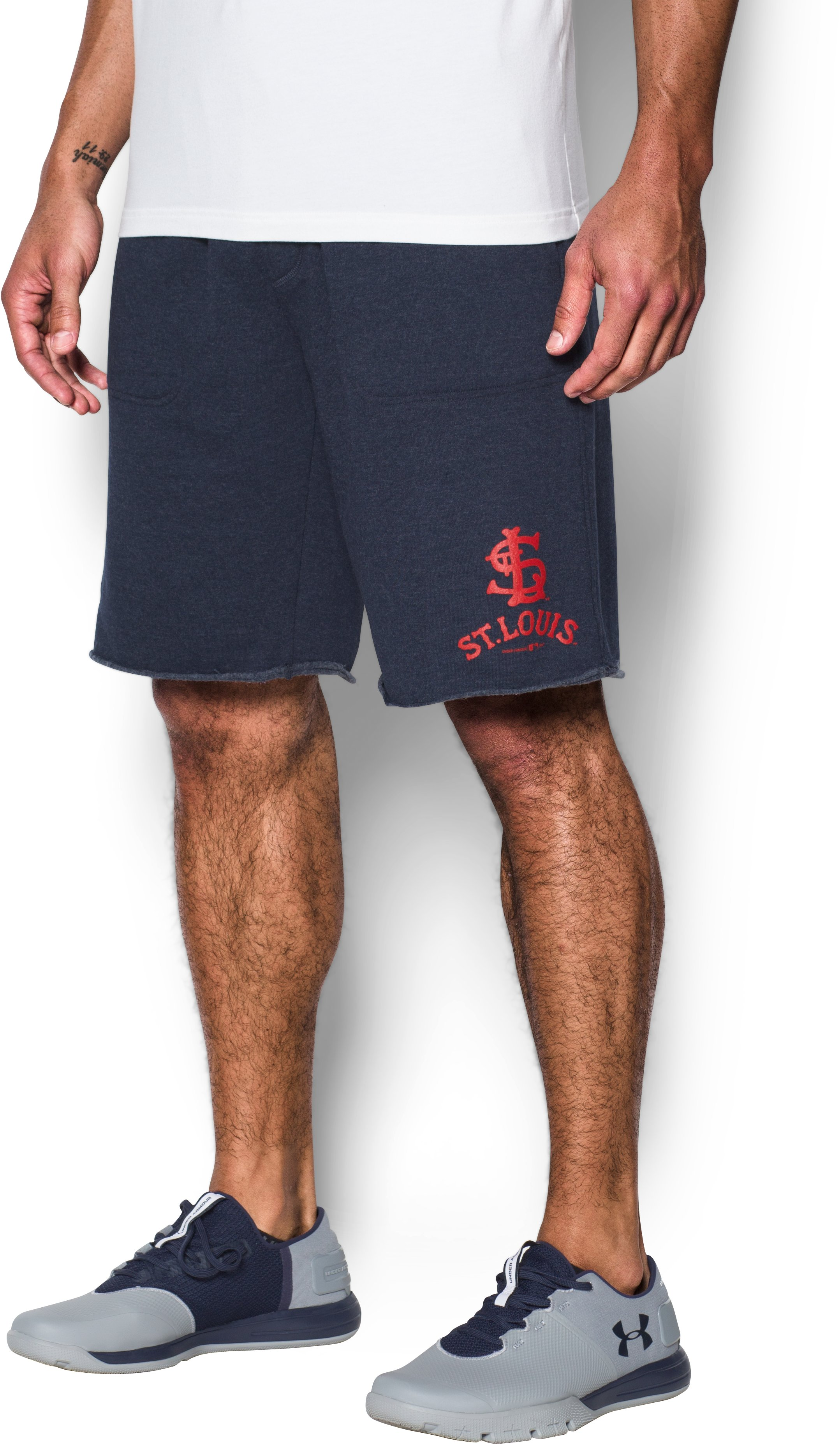 Men's St. Louis Cardinals Fleece Shorts, Midnight Navy, undefined