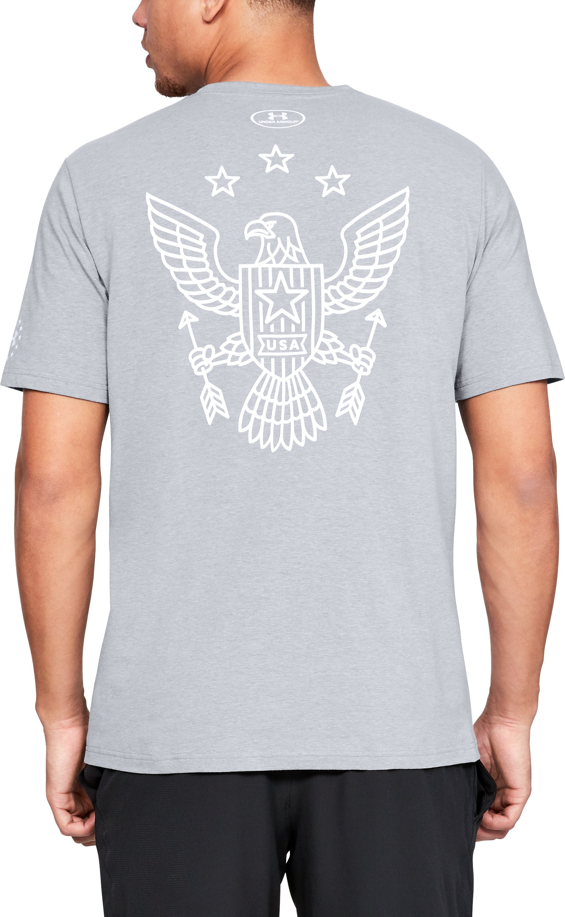 Men's UA Freedom Eagle Arrows T-Shirt, STEEL LIGHT HEATHER