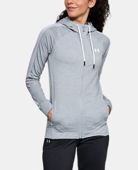 New Arrival Women's UA Featherweight Fleece Full Zip Hoodie  3 Colors $70