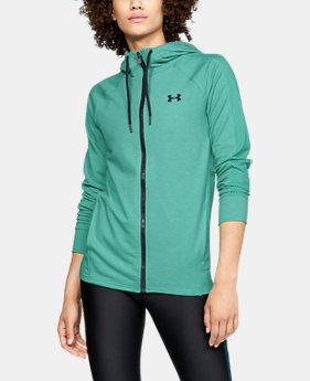 Women's UA Featherweight Fleece Full Zip  1  Color Available $70