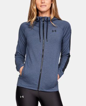 Women's UA Featherweight Fleece Full Zip  5  Colors Available $70