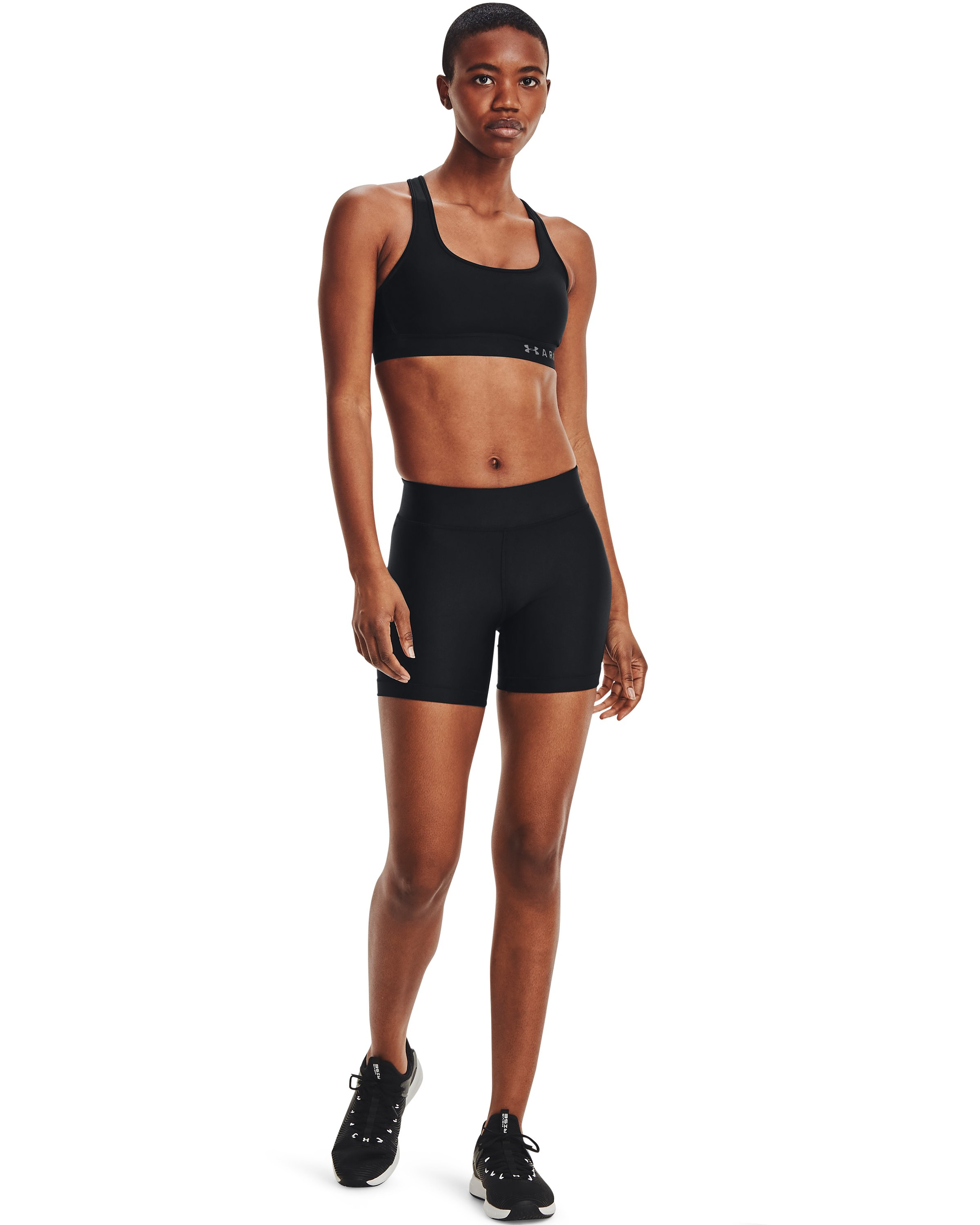Women's HeatGear® Armour Shorts – Mid, Black , undefined
