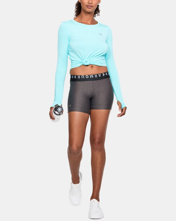 Women's HeatGear® Armour Shorts - Mid, Gray, pdpMainDesktop image number 1