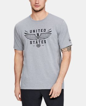 New Arrival Men's UA Freedom US Eagle T-Shirt  4  Colors Available $24.99 to $25