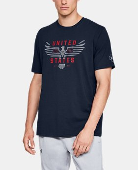 New Arrival Men's UA Freedom US Eagle T-Shirt  1  Color Available $24.99 to $25