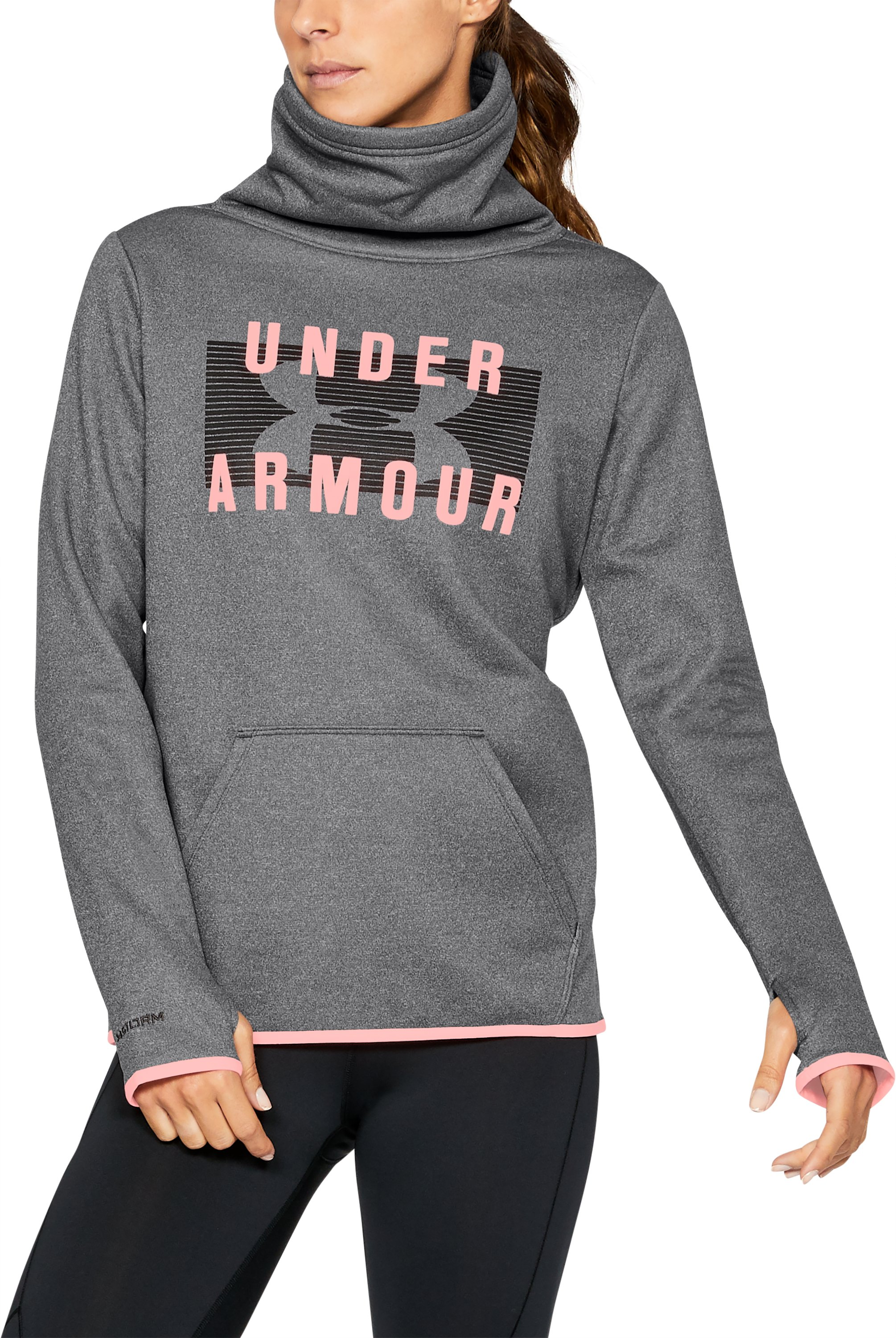 Armour Fleece® Graphic Pullover, Carbon Heather, undefined