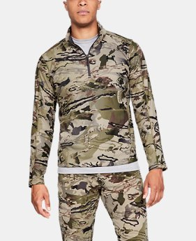 Men's UA Zephyr Fleece Camo ¼ Zip  3  Colors Available $67.5