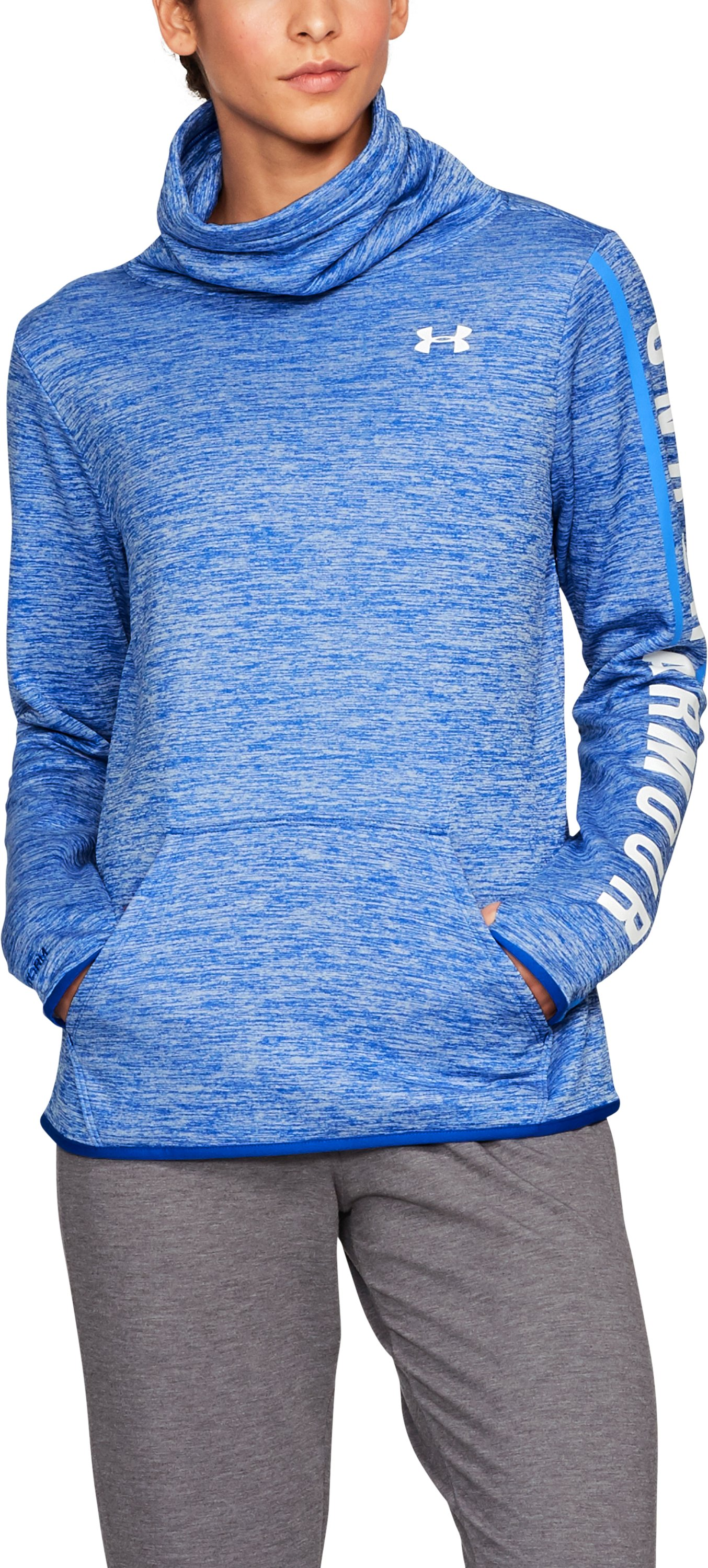 Women's Armour Fleece® Graphic Twist Pullover, LAPIS BLUE
