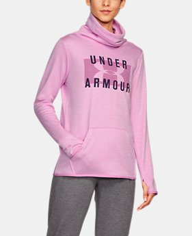 New Arrival Women's Armour® Fleece Graphic Twist Pullover  1 Color $54.99
