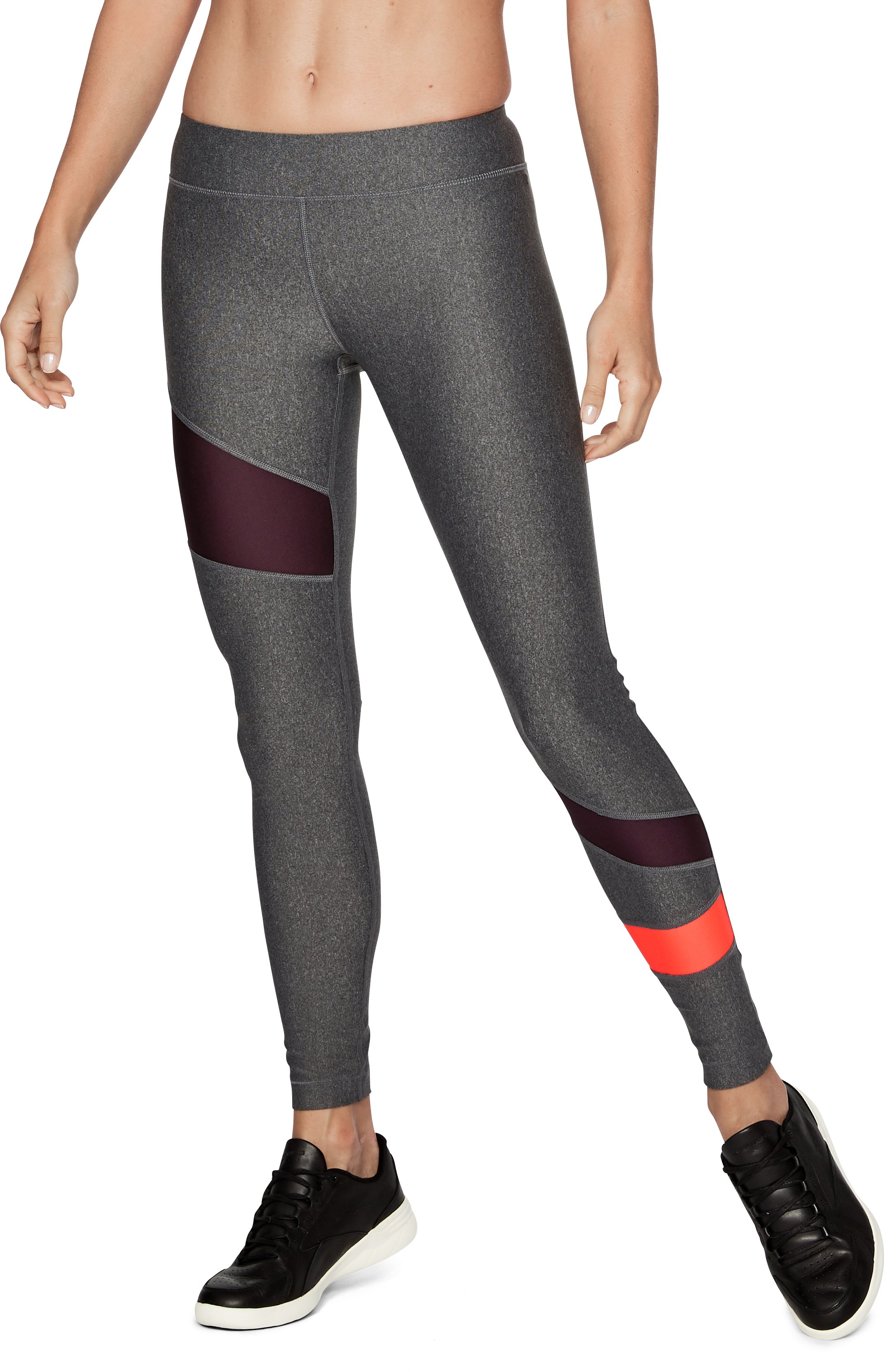 Women's HeatGear® Armour Leggings, Carbon Heather