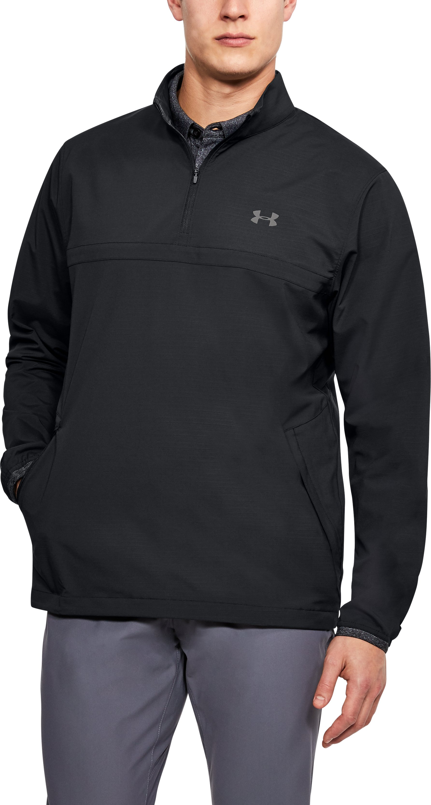 Men's UA Storm WindStrike ½ Zip, Black ,