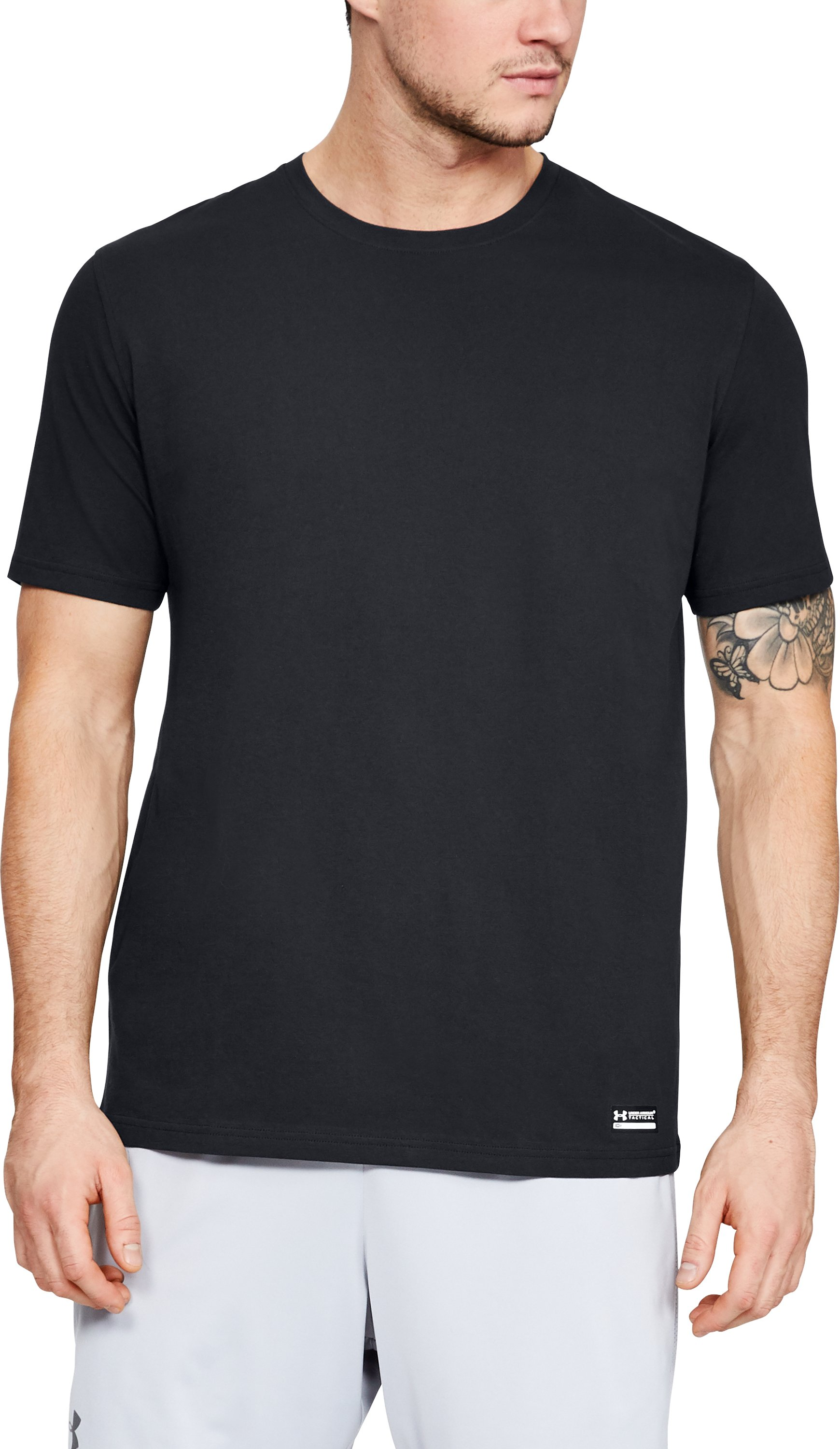 Men's UA Tac Charged Cotton® T-Shirt, Black