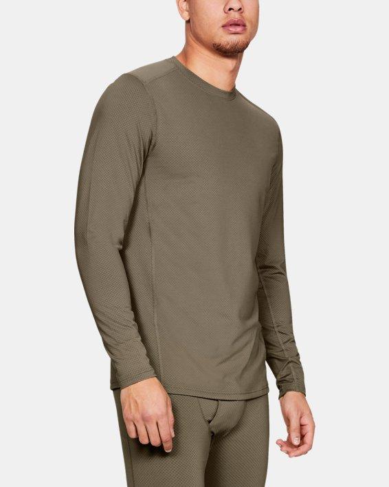 T-shirt à manches longues UA Tactical Crew Base pour homme, Brown, pdpMainDesktop image number 0