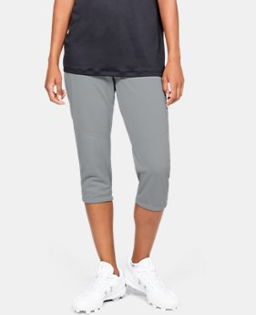 Women's UA Softball Cropped Pants  1  Color Available $40
