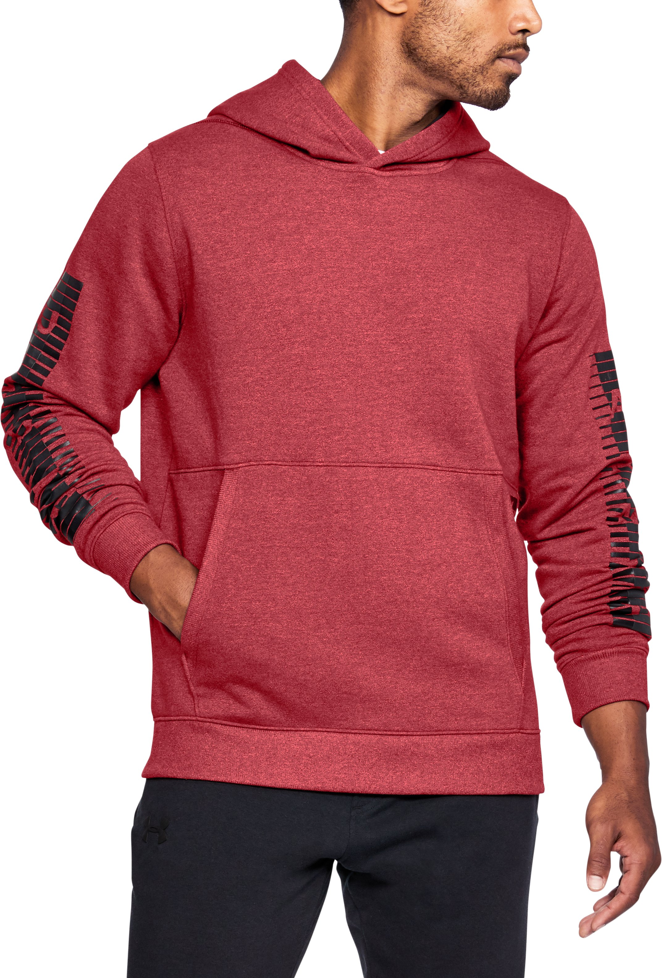 Men's UA Threadborne™ Speed Hitt Hoodie, Red