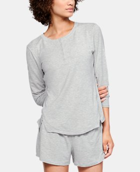 Women's Athlete Recovery Sleepwear™ Ultra Comfort Henley  2  Colors Available $100