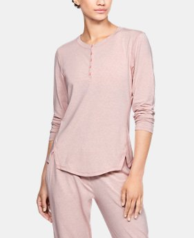 Women's Athlete Recovery Sleepwear™ Ultra Comfort Henley  2  Colors Available $120