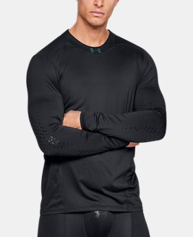 Men's UA Hockey Grippy Long Sleeve  1  Color Available $75