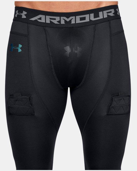 Men's UA Hockey Compression Leggings, Black, pdpMainDesktop image number 6