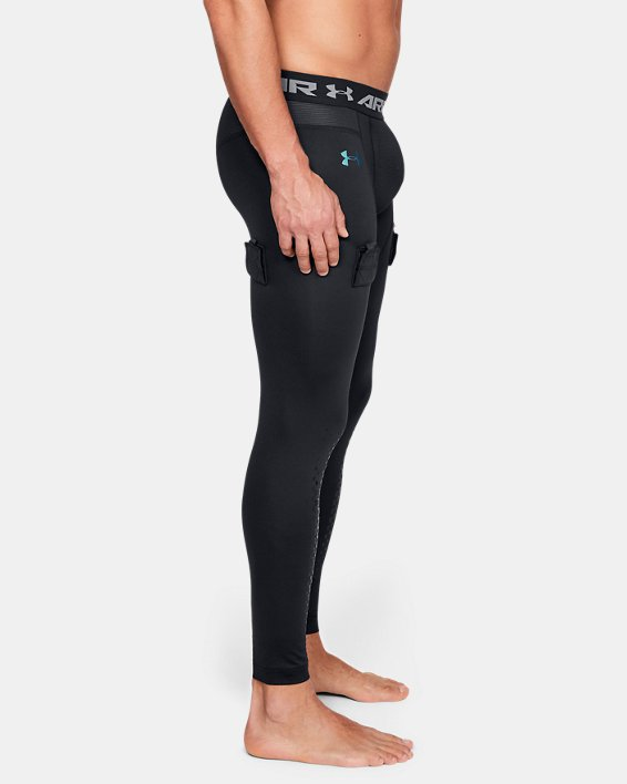Men's UA Hockey Compression Leggings, Black, pdpMainDesktop image number 3