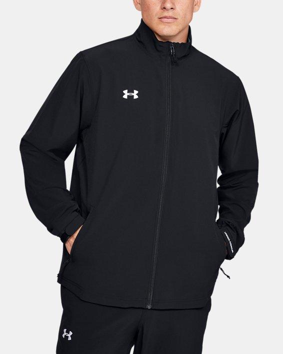 Men's UA Hockey Warm Up Jacket, Black, pdpMainDesktop image number 0
