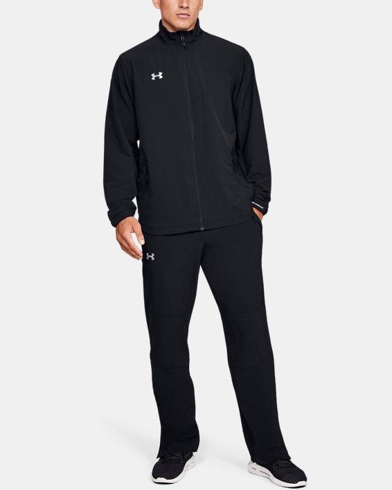 Men's UA Hockey Warm Up Jacket, Black, pdpMainDesktop image number 1
