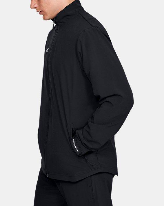 Men's UA Hockey Warm Up Jacket, Black, pdpMainDesktop image number 3