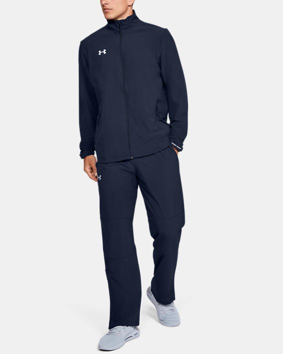 Men's UA Hockey Warm Up Pants, Navy, pdpMainDesktop image number 1