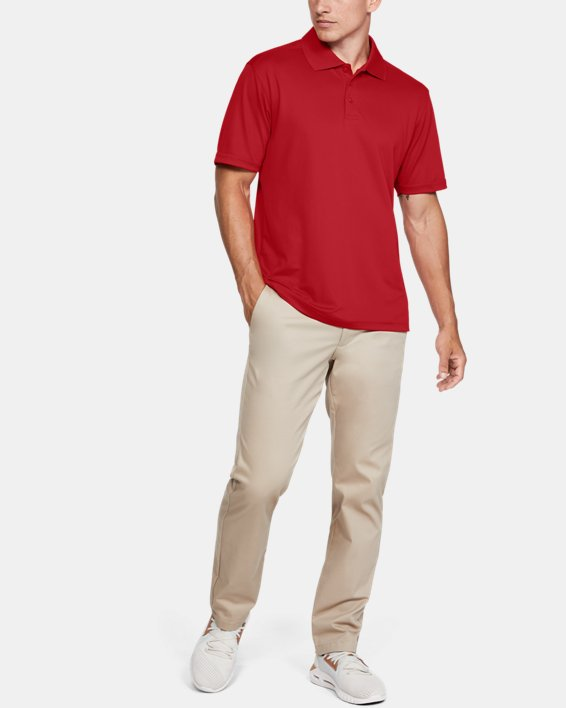 Men's UA Performance Corp Polo, Red, pdpMainDesktop image number 1