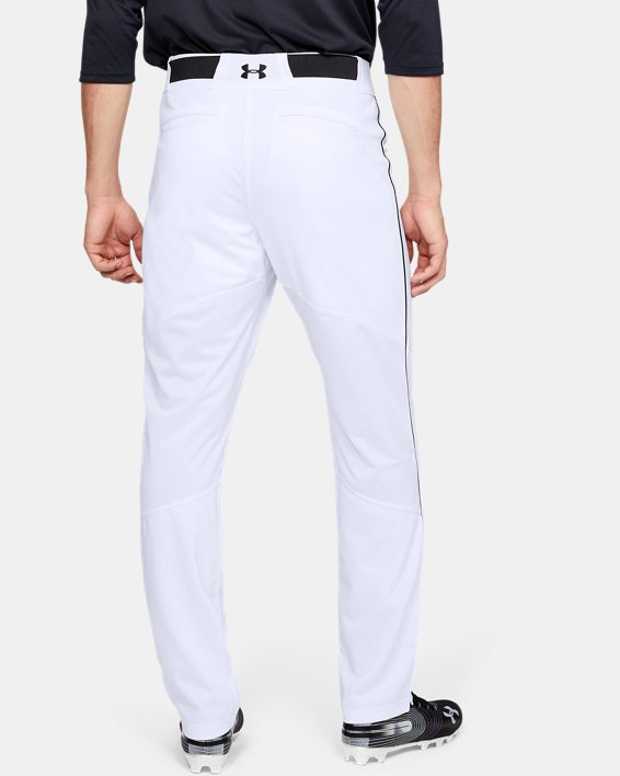 Men's UA Ace Relaxed Piped Baseball Pants, White, pdpMainDesktop image number 2