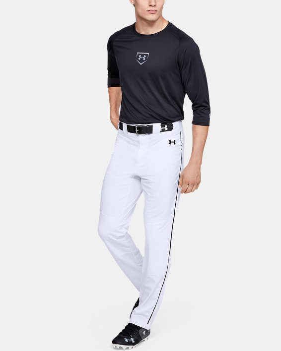 Men's UA Ace Relaxed Piped Baseball Pants, White, pdpMainDesktop image number 1