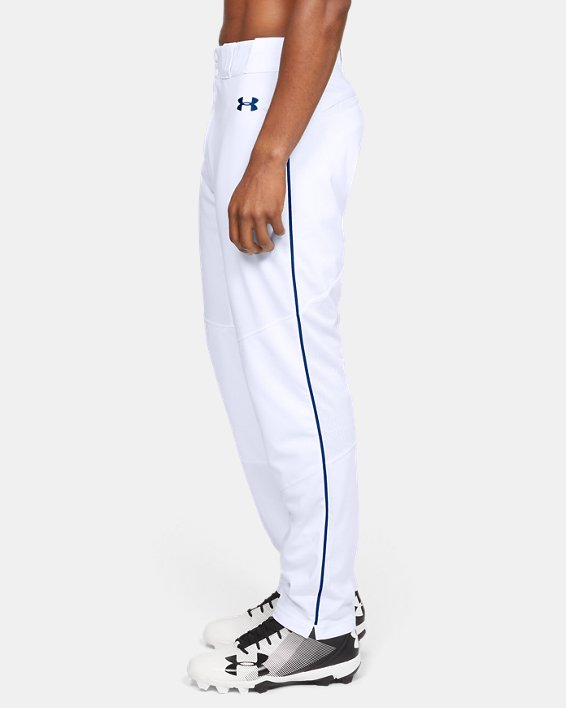 Men's UA Ace Relaxed Piped Baseball Pants, White, pdpMainDesktop image number 3