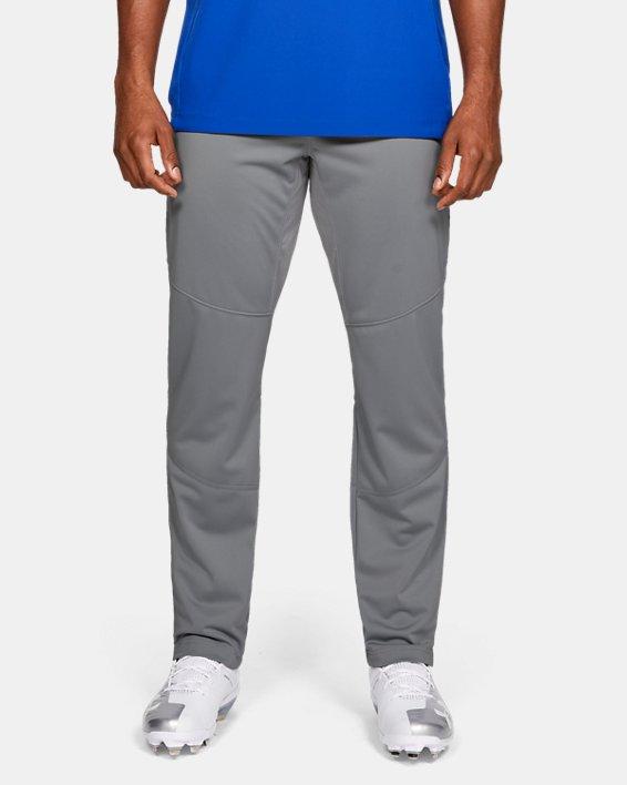 Men's UA Ace Relaxed Baseball Pants, Gray, pdpMainDesktop image number 0
