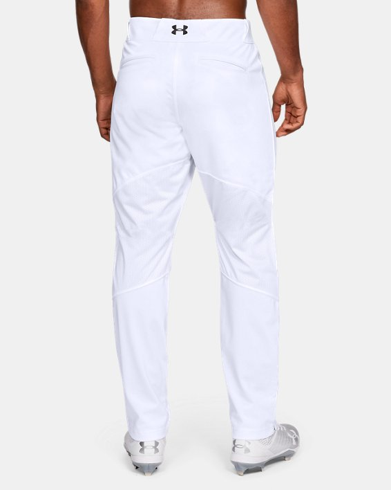 Men's UA Ace Relaxed Baseball Pants, White, pdpMainDesktop image number 2
