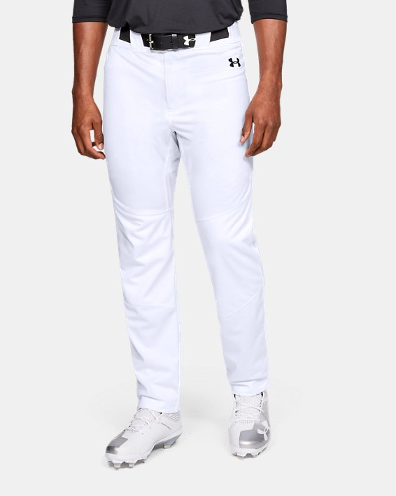 Men's UA Ace Relaxed Baseball Pants, White, pdpMainDesktop image number 0