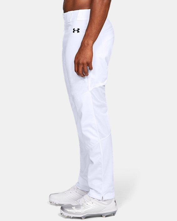 Men's UA Ace Relaxed Baseball Pants, White, pdpMainDesktop image number 3